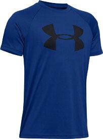 アンダーアーマー UNDER ARMOUR YLGサイズ ボーイズ トレーニングTシャツ UAテック ビッグロゴ ショートスリーブ(ロイヤル×ブラック) 1351850