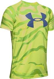 アンダーアーマー UNDER ARMOUR YLGサイズ ボーイズ トレーニングTシャツ UAテック ビッグロゴ プリント ショートスリーブ(X-レイ×ブルーインク) 1351851