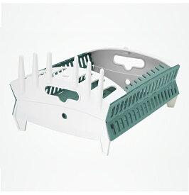 ハイマウント HIGHMOUNT FOZZILS ディッシュラック(アクアマリン×ホワイト/約345×302×150mm) 23532