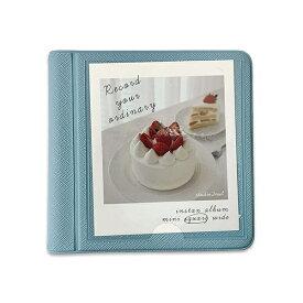 2NUL イヌル チェキスクエア アルバム INSTAX ALBUM SQ mini polaroid album SQUARE SKY BLUE スカイブルー