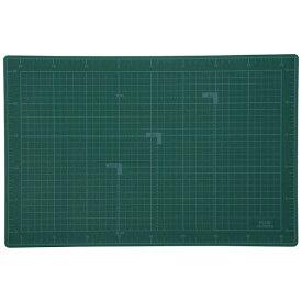プラス PLUS クリーンカッティングマット 両面使用 [450x300x3.1mm] グリーン CS-002WS