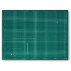 プラス PLUS カッティングマット カラータイプ 両面使用 [600x450x2.0mm] グリーン CS-A2
