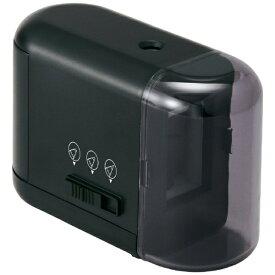 プラス PLUS 乾電池式鉛筆削り FS-077 BK FS-077
