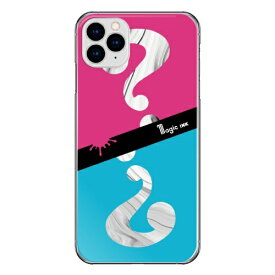 藤家 Fujiya iPhone11Pro マジックインキ_E.ピンク&ブルー ハードケース pc717-cl-e-ip11pro