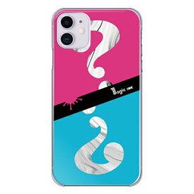 藤家 Fujiya iPhone11 マジックインキ_E.ピンク&ブルー ハードケース pc717-cl-e-ip11