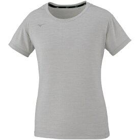 ミズノ mizuno レディース Tシャツ(Lサイズ/ベイパーシルバー杢) 32MA0311