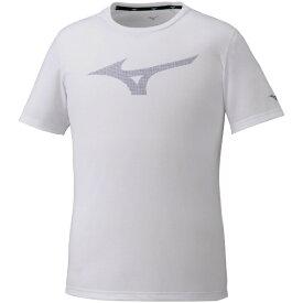 ミズノ mizuno メンズ ロゴTシャツ(Mサイズ/ホワイト) 32MA0024
