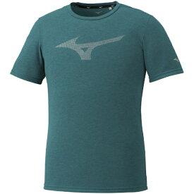 ミズノ mizuno メンズ ロゴTシャツ(XLサイズ/グリーン杢) 32MA0024