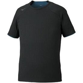 ミズノ mizuno メンズ ドライエアロフローTシャツ(Mサイズ/ブラック) 32MA0021