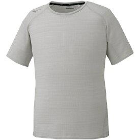 ミズノ mizuno メンズ ドライエアロフローTシャツ(Mサイズ/ベイパーシルバー) 32MA0061