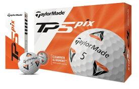 テーラーメイドゴルフ Taylor Made Golf ゴルフボール New TP5x Pix ホワイト [3球(1スリーブ) /スピン系]