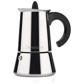 Barazzoni バラゾーニ ステンレス エスプレッソコーヒーメーカー(2カップ) LA CAFFETTIERE 830008002