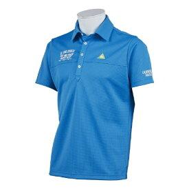 ルコック le coq メンズ クーリストフェスグラフィック半袖シャツ(LLサイズ/ブルー) QGMPJA14