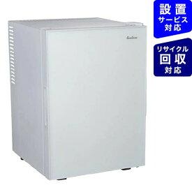 三ツ星貿易 Mitsuboshi Boeki 冷蔵庫 ホワイト ML-40G-W [1ドア /右開きタイプ /40L][冷蔵庫 一人暮らし 小型 新生活]