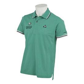 ルコック le coq メンズ トップ鹿の子アイコンマーキング半袖シャツ(Lサイズ/グリーン) QGMPJA00