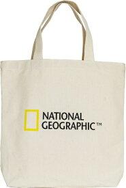 NATIONAL GEOGRAPHIC ナショナルジオグラフィック オーガニックコットン エコバッグ オフホワイト NAG-13077