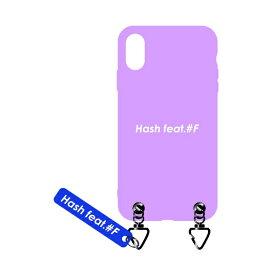 サムライワークス SAMURAI WORKS iPhoneXS/X#Fマットケース ピンク Hash feat.#F