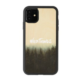 HAMEE ハミィ iPhone 11/XR WILD THINGS(ワイルドシングス) × kibaco Wood Case WILD THINGS HAZE 663-916759