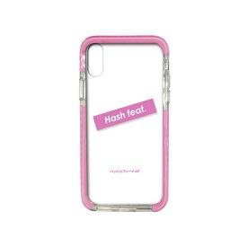 サムライワークス SAMURAI WORKS iPhoneXS/X#Fロゴ入りタフケース ピンク Hash feat.#F