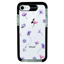 サムライワークス SAMURAI WORKS iPhone SE(第2世代)4.7インチ/8/7 Ultra Protect Case Bloem purple flower-CLR HF-CTI7S-2B05