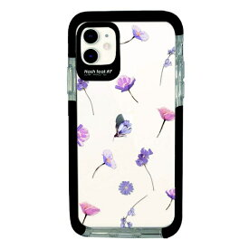 サムライワークス SAMURAI WORKS iPhone11 Ultra Protect Case Bloem purple flower-CLR Hash feat.#F HF-CTIXIR-2B05