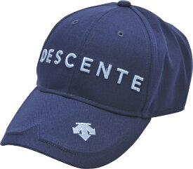 デサント DESCENTE メンズ コットンツイルロゴキャップ(フリーサイズ:57〜59cm/ネイビー) DGBPJC00