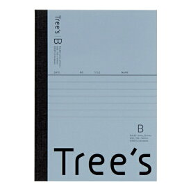キョクトウアソシエイツ KYOKUTO Trees A6 B罫48枚 ブルーグレー ブルーグレー UTRBA6GR