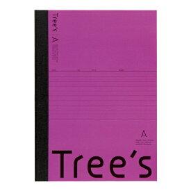 キョクトウアソシエイツ KYOKUTO Trees B5 A罫30枚 パープル パープル UTR3APU