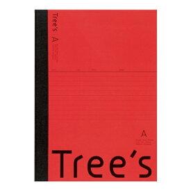 キョクトウアソシエイツ KYOKUTO Trees B5 A罫30枚 レッド レッド UTR3AR