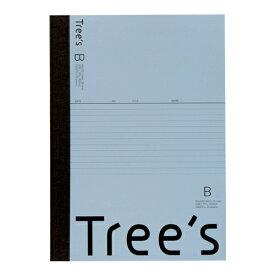 キョクトウアソシエイツ KYOKUTO Trees B5 B罫30枚 ブルーグレー ブルーグレー UTR3BGR