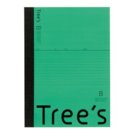 キョクトウアソシエイツ KYOKUTO Trees B5 B罫30枚 グリーン グリーン UTR3BG