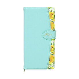 ナチュラルデザイン NATURAL design Galaxy A20専用手帳型ケース Fleur Mint GA20-FLE06