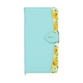 ナチュラルデザイン NATURAL design AQUOS sense3専用手帳型ケース Fleur Mint AQS3-FLE06