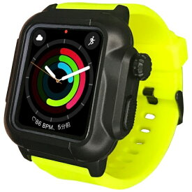ROOX ルークス 防塵防水ケース タフネス for Apple Watch 4&5 44mm イエロー YHDIPCW5L-YW