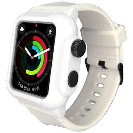 ROOX ルークス 防塵防水ケース タフネス for Apple Watch 4&5 44mm ホワイト YHDIPCW5L-WH