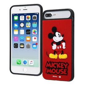 イングレム Ingrem iPhone 8Plus/7Plus/6sPlus/6Plus/ディズニーキャラクター/耐衝撃ケース キャトル シリコン/『ミッキーマウス』_1 『ミッキーマウス』_1 IQ-DP76PSB/MK1