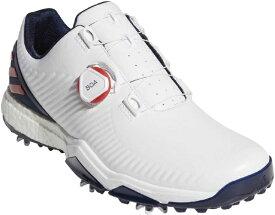 アディダス adidas 25.0cm メンズ ゴルフシューズ アディパワーフォージドボア adipower forged boa(ホワイト×カレッジレッド×カレッジネイビー)BB7911