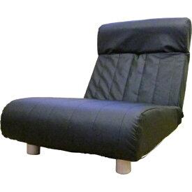 東京シンコール TOKYO SINCOL 【座椅子】一人掛け プログレッソ脚つきタイプ (レザー/ブラック) 【代金引換配送不可】