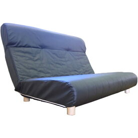 東京シンコール TOKYO SINCOL 【座椅子】二人掛け プログレッソ脚つきタイプ (レザー/ブラック) 【代金引換配送不可】