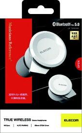 エレコム ELECOM フルワイヤレスイヤホン LBT-TWS05WH ホワイト [リモコン・マイク対応 /ワイヤレス(左右分離) /Bluetooth]
