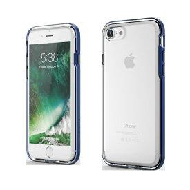 UI ユーアイ iPhone SE(第2世代)4.7インチINO Achrome Shield バンパーケース ネイビー