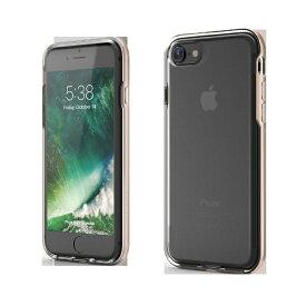 UI ユーアイ iPhone SE(第2世代)4.7インチINO Achrome Shield バンパーケース ゴールド