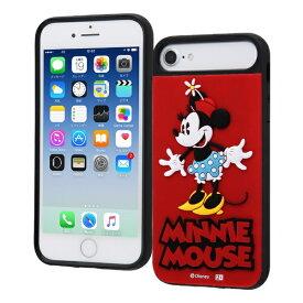 イングレム Ingrem iPhone SE(第2世代)4.7インチ/ iPhone 8/7/6s/6/ディズニーキャラクター/耐衝撃ケース キャトル シリコン/『ミニーマウス』_1 『ミニーマウス』_1 IQ-DP76SB/MN1