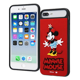 イングレム Ingrem iPhone 8Plus/7Plus/6sPlus/6Plus/ディズニーキャラクター/耐衝撃ケース キャトル シリコン/『ミニーマウス』_1 『ミニーマウス』_1 IQ-DP76PSB/MN1