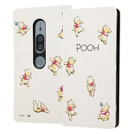 イングレム Ingrem Xperia XZ2 Premium/『ディズニーキャラクター』/手帳型アートケース マグネット スリム /『くまのプーさん』_018 くまのプーさん_018 IN-RDXZ2PMLC3/PO018