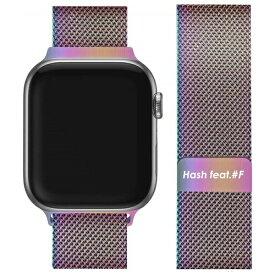 サムライワークス SAMURAI WORKS Apple Watch 38/40mm Hash feat.#F ミラネーゼループバンド レインボー