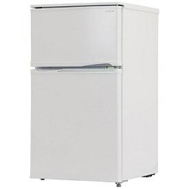 A−STAGE BR-90W 冷蔵庫 ホワイト [2ドア /右開き/左開き付け替えタイプ /90L]《基本設置料金セット》