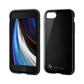 エレコム ELECOM iPhone SE(第2世代)4.7インチ対応 TOUGH SLIM2 ブラック PM-A19ATS2BK