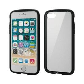 エレコム ELECOM iPhone SE(第2世代)4.7インチ対応 TOUGH SLIM LITE フレームカラー ブラック PM-A19ATSLFCBK