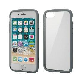 エレコム ELECOM iPhone SE(第2世代)4.7インチ対応 TOUGH SLIM LITE フレームカラー グレー PM-A19ATSLFCGY